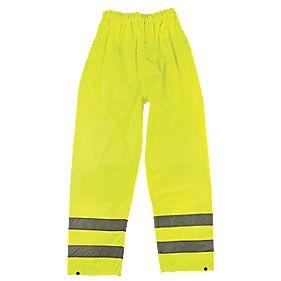 "Hi-Vis Trousers Elasticated Waist Yellow XX Large 28-50"" W 31"" L"