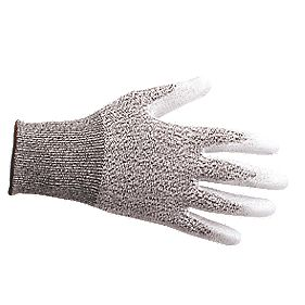 Cut-Resistant PU Palm Cut 3 Gloves Grey / White X Large