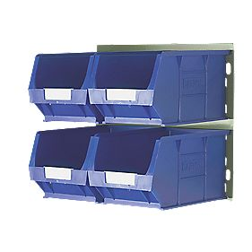 Wall Mountable Bin Kit 4 - 4 x TC4 Bins