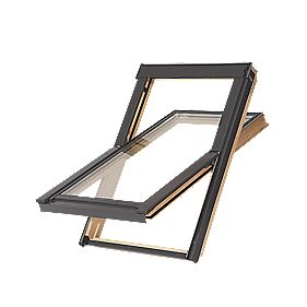 Tyrem C2AB500 DPX Natural Timber Centre-Pivot Roof Window 550 x 778mm