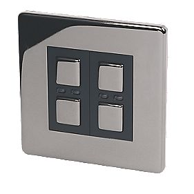 2-Gang 1-Way Dimmer Switch Black Nickel 250W