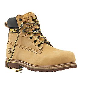 CAT Holton Safety Boots Honey Size 8