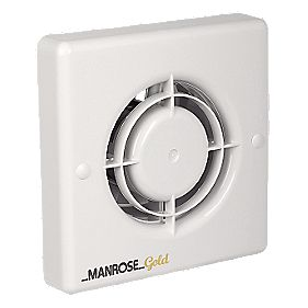 Manrose MG100S 20W Gold Standard Long Life Axial Bathroom Extractor Fan