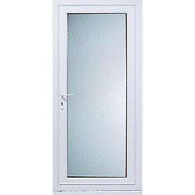 Patt10 Back Door Translucent Glass RH uPVC RH 840 x 2085mm