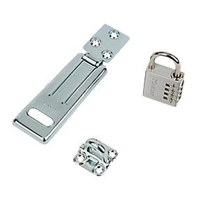 Master Lock Hasp & Staple with Combi Padlock 115mm