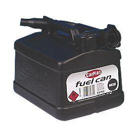 Carplan Plastic Petrol Can Black 5Ltr