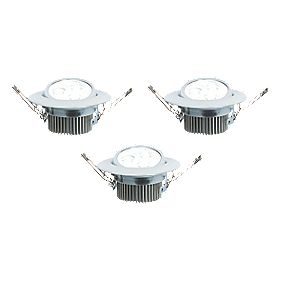 LAP Hadar Adjustable Round LED Downlight Chrome 4.5W 240V Pack of 3