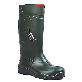 Dunlop Purofort+ C762933 Safety Wellington Boots Green Size 7