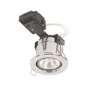 Linolite:Sylvania Adj. Round Pol Chr 12V Low Voltage Fire Rated Downlight