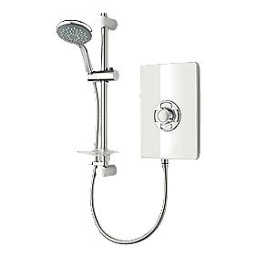 Triton Manual Electric Shower White Gloss 8.5W