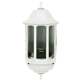 ASD 60W White Slave Half Lantern Wall Light