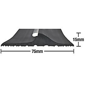 Stormguard Garage Threshold Seal Black 2.5m