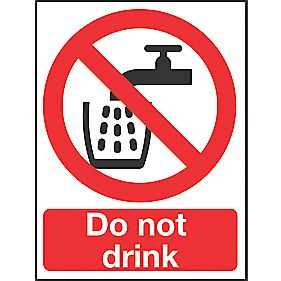 """Do Not Drink"" Sign 200 x 150mm"