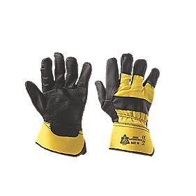 Mechanical Hazard Superior Rigger Gloves Black / Yellow Large