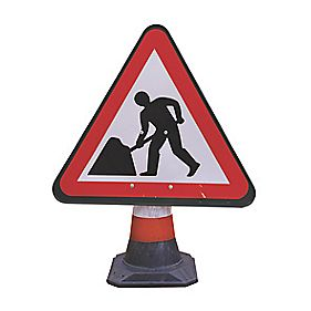 JSP Portacone Roadworks Cone Sign
