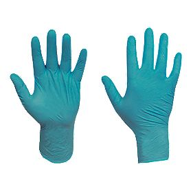Ansell Touch N Tuff Powder-Free Nitrile Disposable Gloves Blue Large Pk100