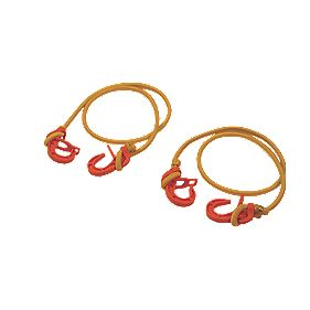 Thorsen Adjustable Bungee Cords with Plastic Hook 200-1000 x 8mm Pack of 2