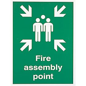 """Fire Assembly Point"" Sign 400 x 300mm"