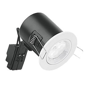 Aurora Compact Fixed Round Fire Rated LED Downlight White 240V