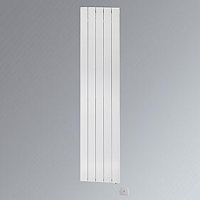 Oceanus Electro Vertical Designer Radiator White 900 x 520mm 1023BTU