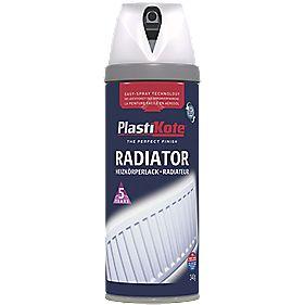 Plasti-Kote Radiator Paint Satin White 400ml