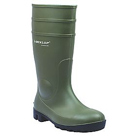 Dunlop Protomastor 142VP Safety Wellington Boots Green Size 4