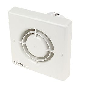 Manrose QF100T 5W Quiet Bathroom Axial Extractor Fan with Timer