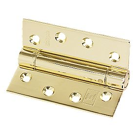 Adjustable Self-Closing Hinge Electro Brass 76 x 102mm Pack of 1