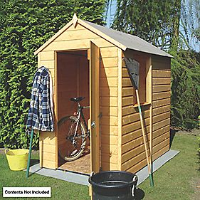 Shiplap Solid Sheet Apex Shed 6 x 4 x 7' (Nominal)