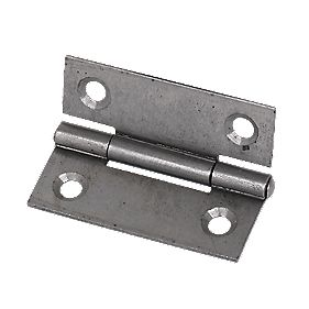 Steel Fixed Pin Hinges Self Colour 50 x 38 x 1mm Pack of 20
