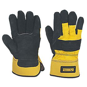 DeWalt Rigger Gloves Black / Yellow Large