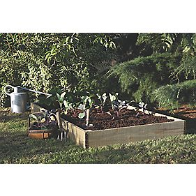 Forest Raised Bed 0.9 x 0.9 x 0.14m