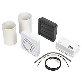 Xpelair LV100H 13W Axial Bathroom Extractor Fan with Humidistat & Timer