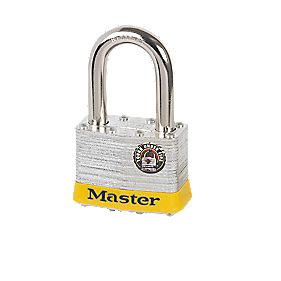 Master Lock Steel Laminated Padlock Long Shackle 54mm