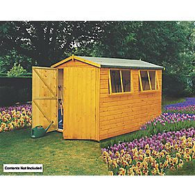 Shire Shiplap Heavy Duty Apex Shed 10' x 8' x 7' (Nominal)