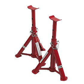 2-Tonne Folding Axle Stands Pair