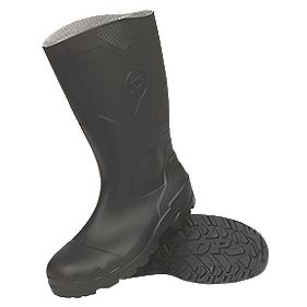 Dunlop Devon H142011 Black Wellingtons Size 10