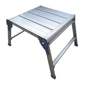 Square Hop-Up Work Platform Aluminium