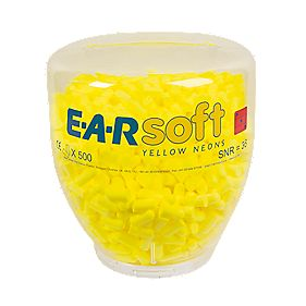 3M EAR Soft Neons 36dB Ear Plug Refill Bottle 500 Pairs