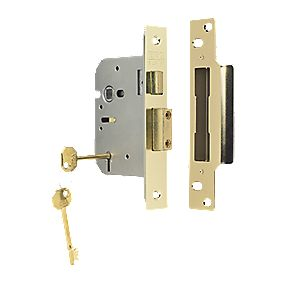 "ERA 5-Lever Mortice Sashlock Steel Brass 3"" (76mm)"