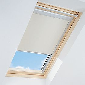 Roof Window Blackout Blind Beige 550 x 780mm