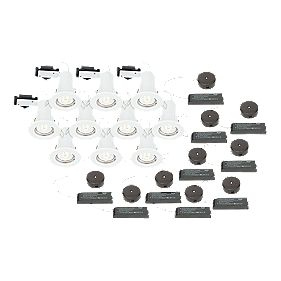 LAP Fixed Low Voltage FR Downlight Contractor Pack White 12V Pk10