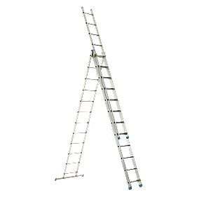 143112 Aluminium Combination Ladder 3 x 12 Rungs 7.31m