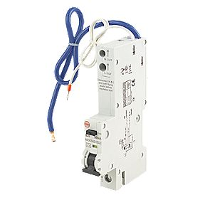 Wylex 20A 30mA Single Pole Type B Curve RCBO