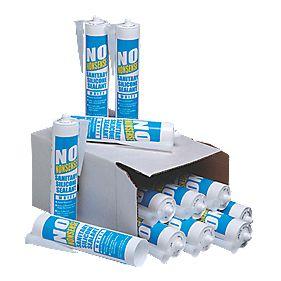 No Nonsense Sanitary Silicone White 310ml Pk12