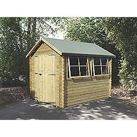 Solway 2 Log Cabin 2.9 x 2.9 x 2.6m Assembly Included