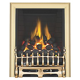 Focal Point Full Depth Blenheim Brass Traditional Inset 6.8kW Gas Fire