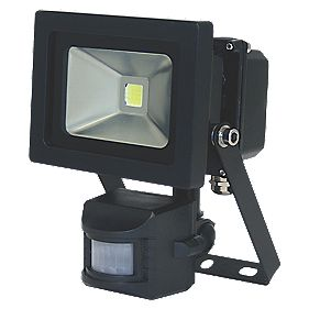 XQ-Lite LED Floodlight 10W Black PIR
