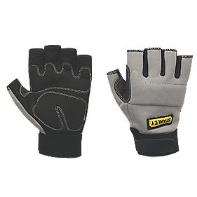 Stanley Performance Fingerless Gloves Grey Large