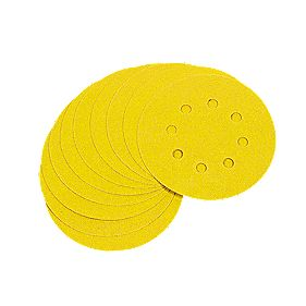 DeWalt 125mm 80 Grit Hook & Loop Disc Pack of 10